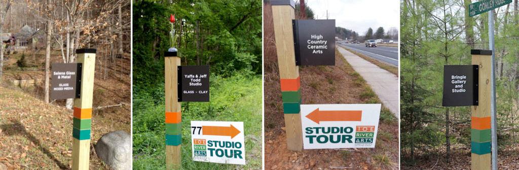 Toe River Arts Studio Tour Signs